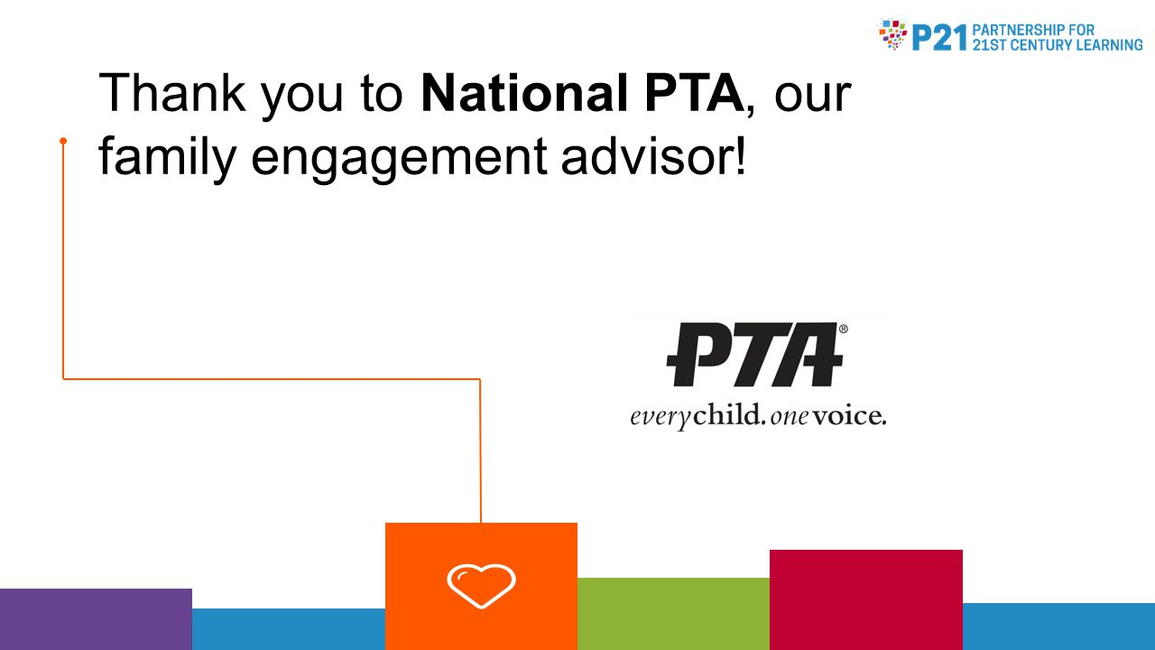 Thank you to National PTA, our family engagement advisor!