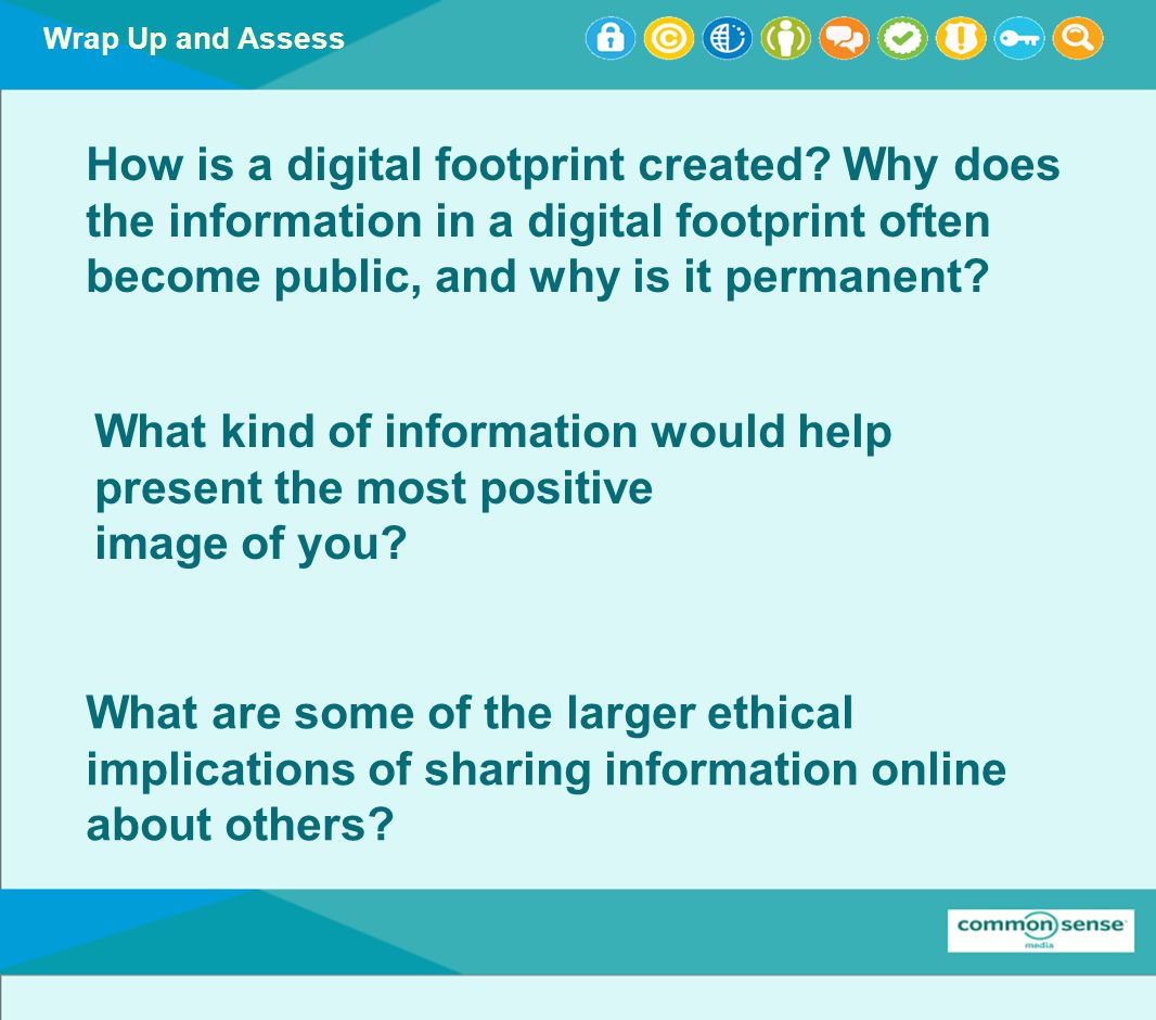 Wrap Up and Assess How is a digital footprint created.