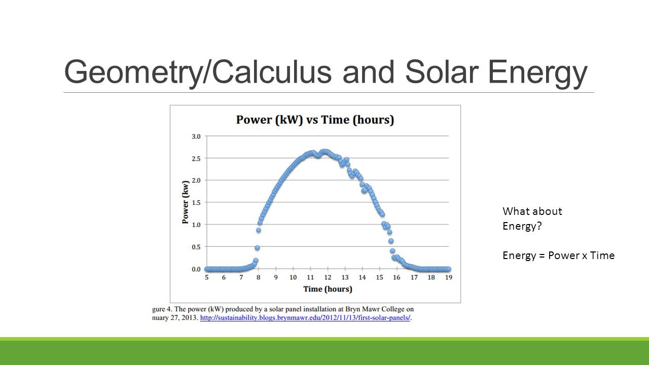 What about Energy Energy = Power x Time