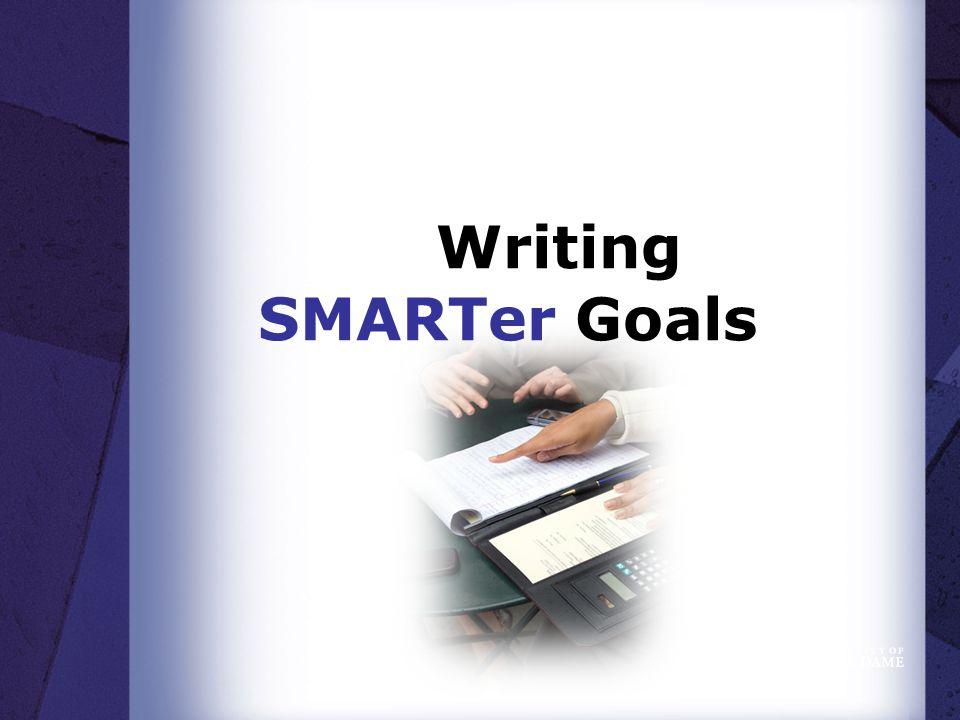 Writing SMARTer Goals