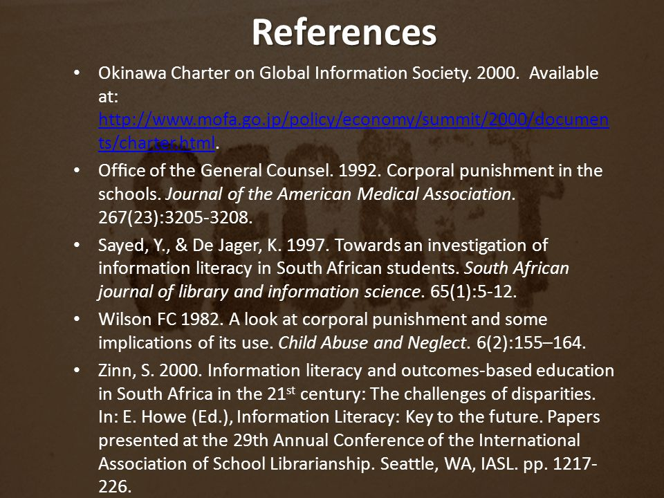 Okinawa Charter on Global Information Society. 2000.