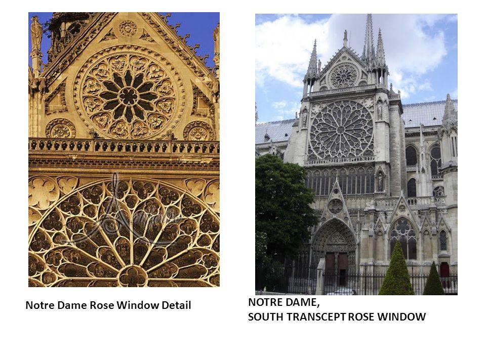 Notre Dame Rose Window Detail NOTRE DAME, SOUTH TRANSCEPT ROSE WINDOW
