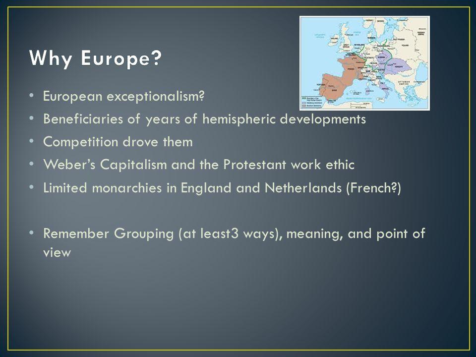 European exceptionalism.