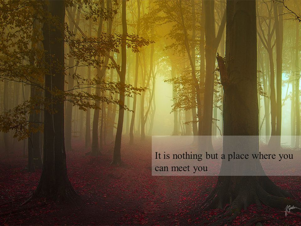 It is nothing but a place where you can meet you