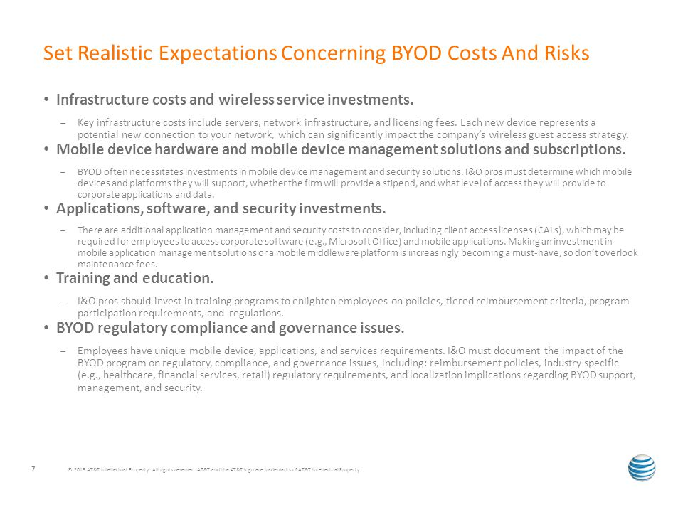 Infrastructure costs and wireless service investments.
