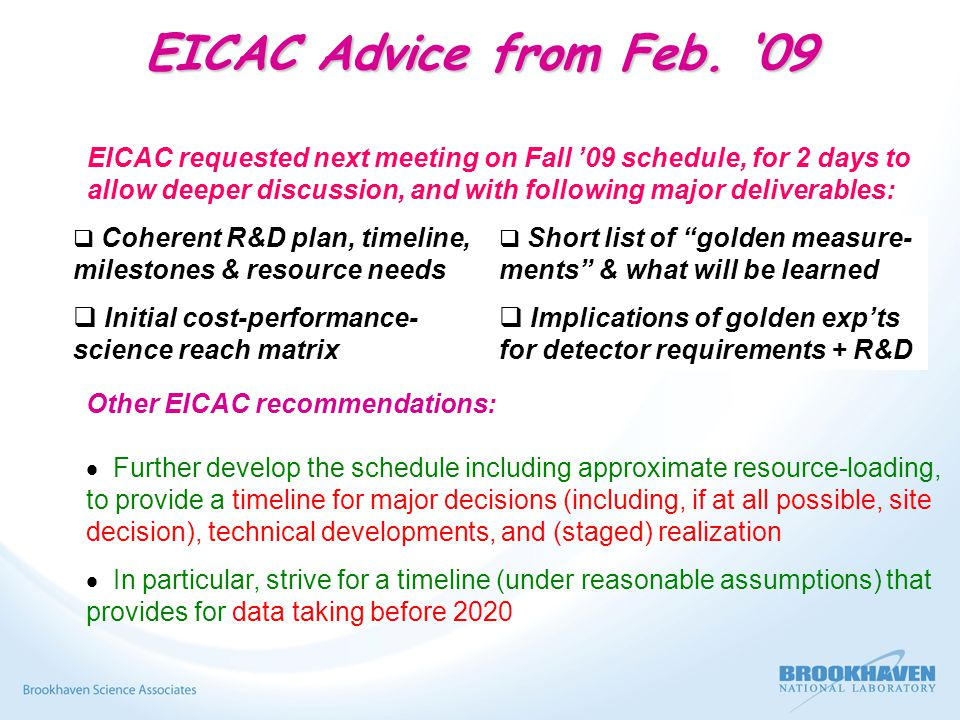 EICAC Advice from Feb.