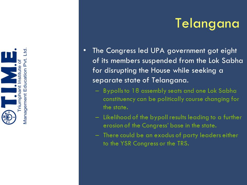 Telangana The Congress led UPA government got eight of its members suspended from the Lok Sabha for disrupting the House while seeking a separate stat