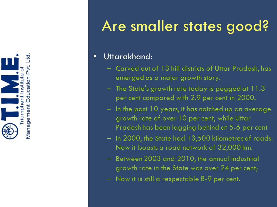 Are smaller states good.