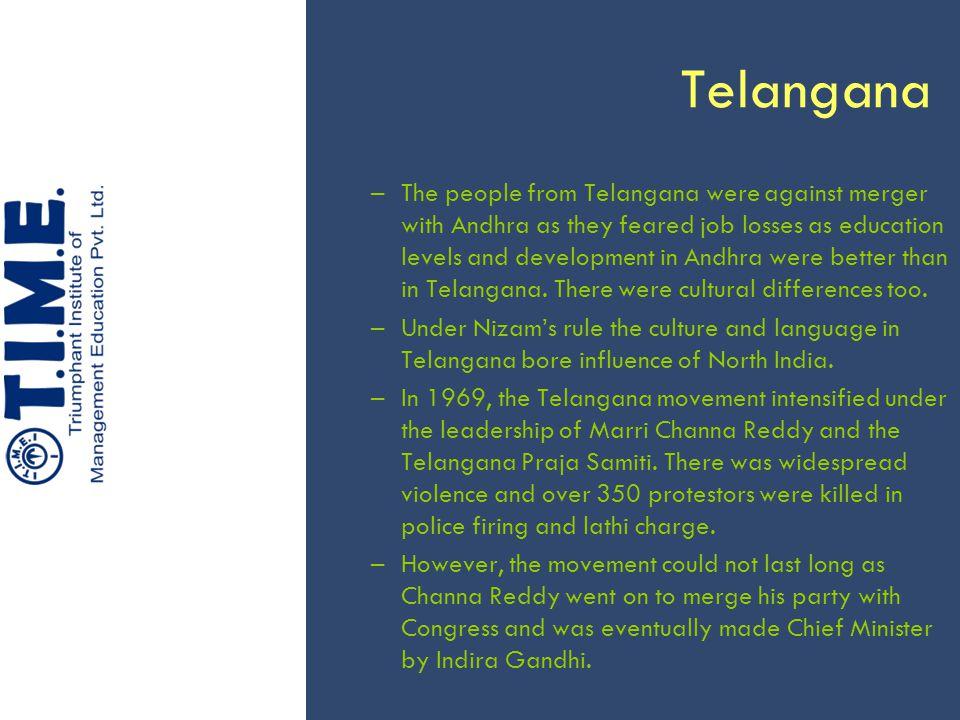 Telangana In 2001, the movement revived once again when K Chandrashekhar Rao quit the Telugu Desam and formed the Telangana Rashtra Samithi.