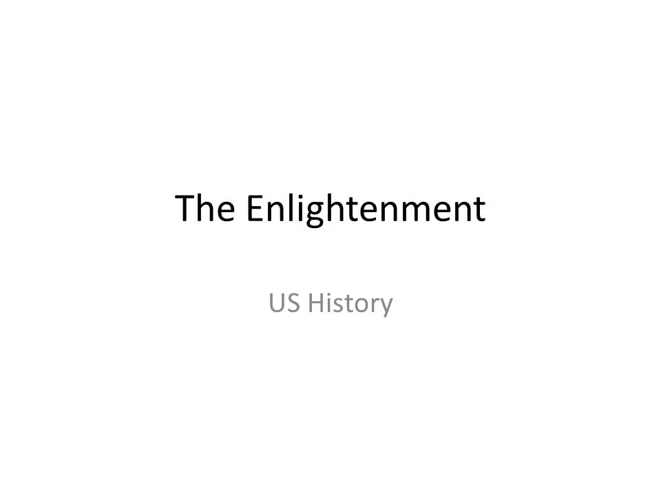 The Enlightenment US History