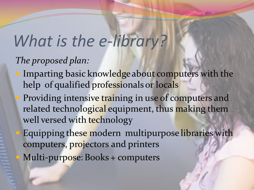 What is the e-library.