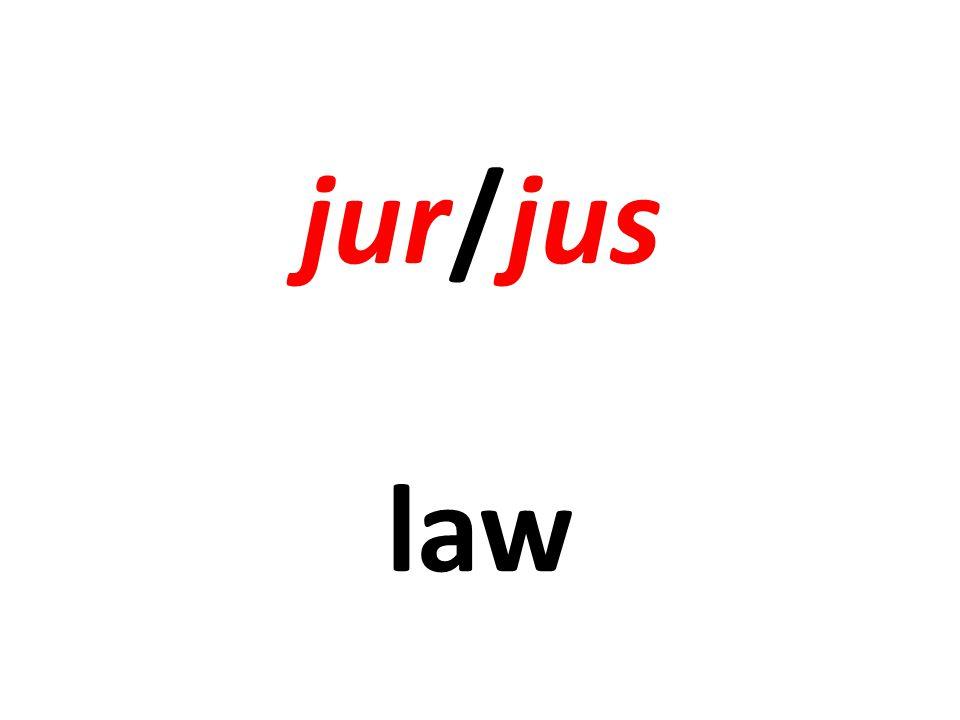 jur/jus law