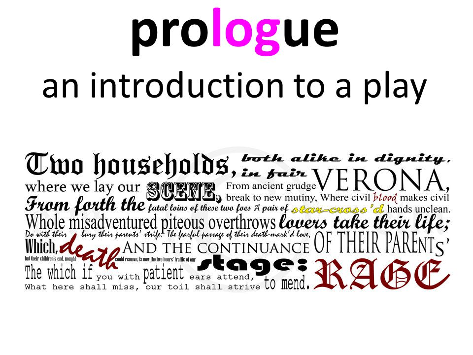 prologue an introduction to a play
