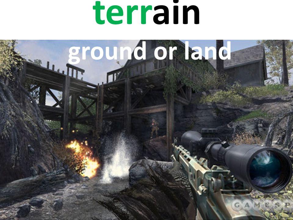 terrain ground or land
