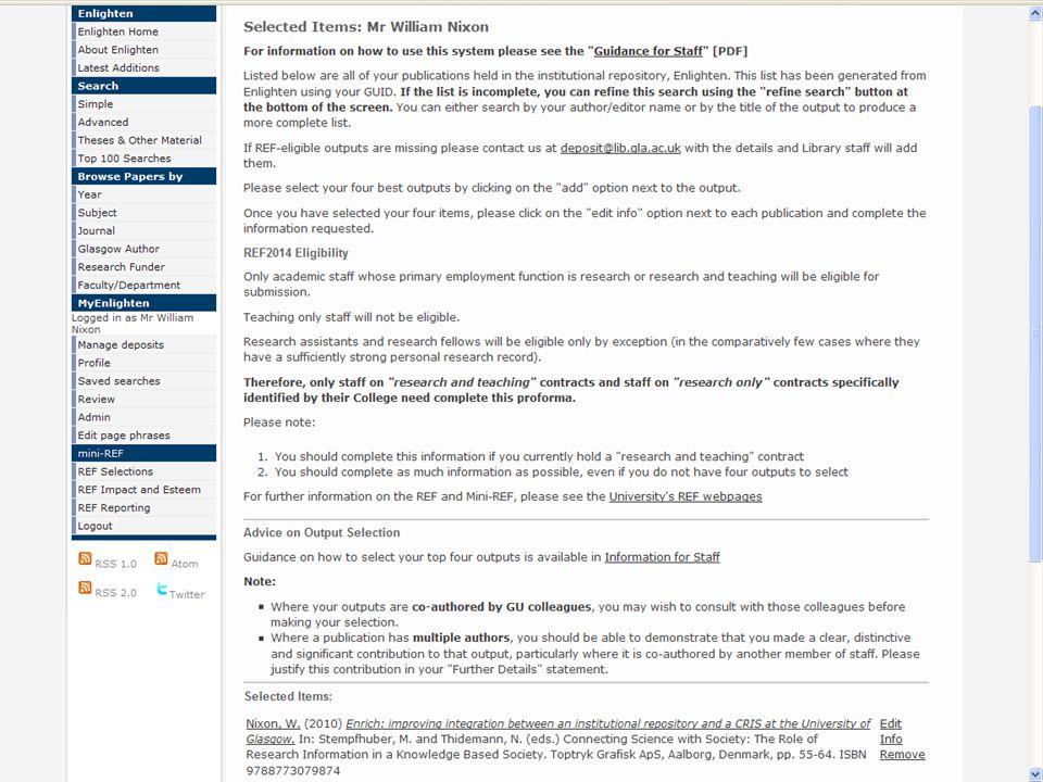 MiniREF Selections [Screenshot]