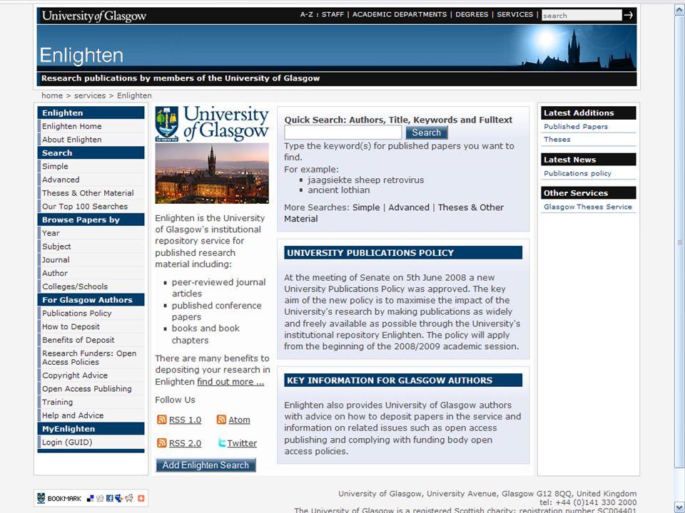 Enlighten Homepage