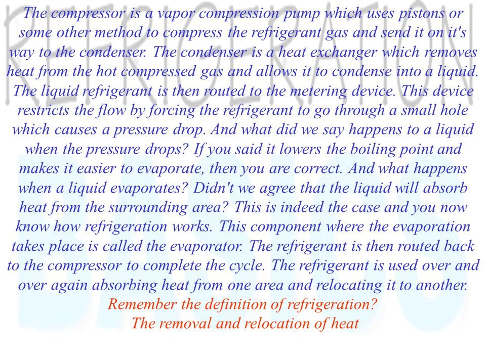 Four main components of Refrigeration System