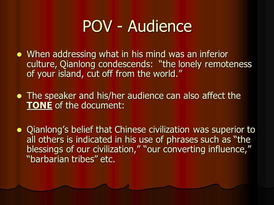 Analyzing POV 3.