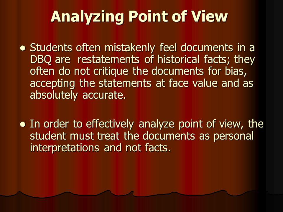 Analyzing POV 1.