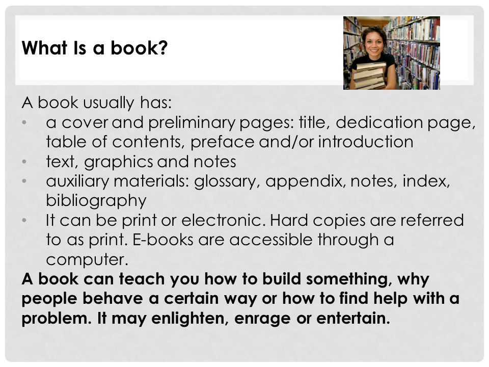 What Is a book.