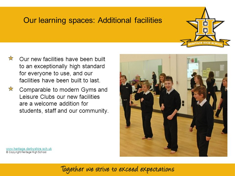 12 Other additional facilities Our new facilities have been built to an exceptionally high standard for everyone to use, and our facilities have been built to last.