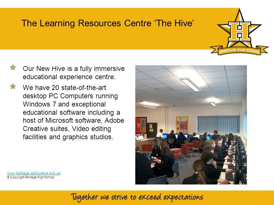 23 The Learning Resources Centre 'The Hive' Our New Hive is a fully immersive educational experience centre.