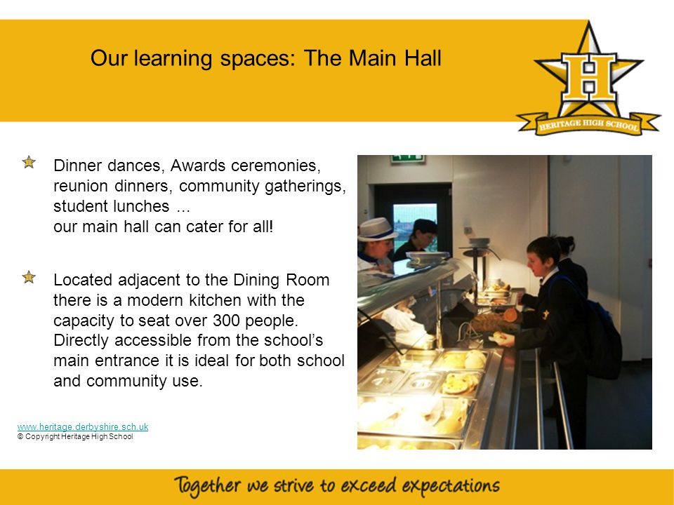 8 The Main Hall Dinner dances, Awards ceremonies, reunion dinners, community gatherings, student lunches...