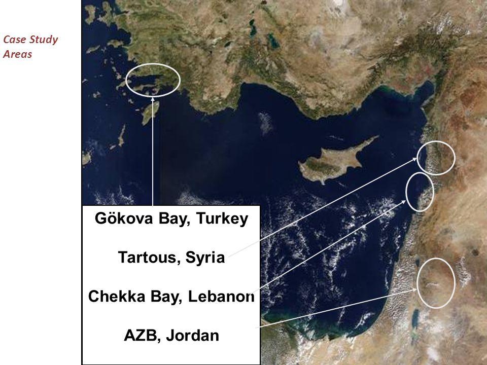 Case Study Areas Gökova Bay, Turkey Tartous, Syria Chekka Bay, Lebanon AZB, Jordan