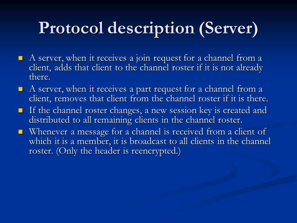 The exploit (as found by Murphi) Bob is in channel #foo.