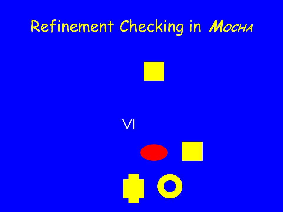 Refinement Checking in M OCHA  Space Abstraction Time abstraction