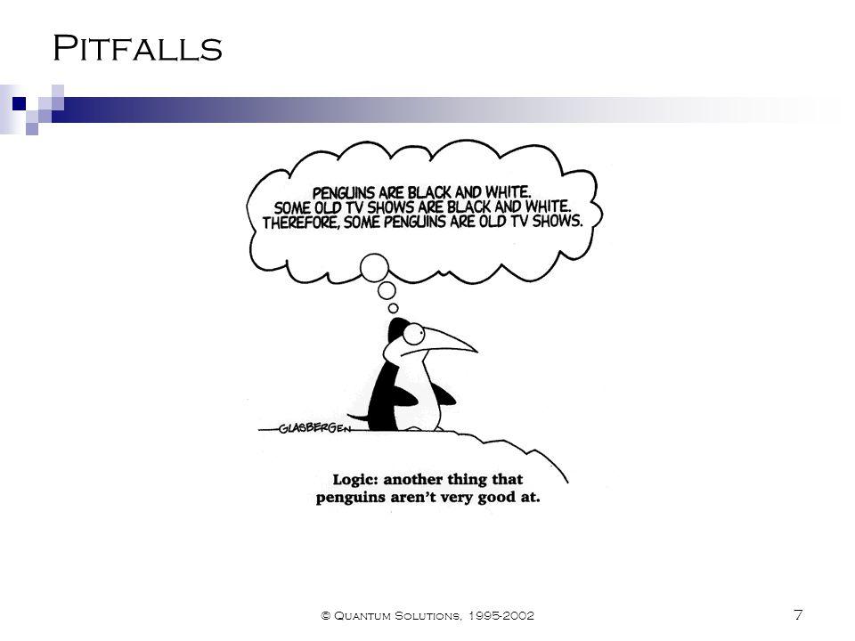 © Quantum Solutions, 1995-2002 7 Pitfalls