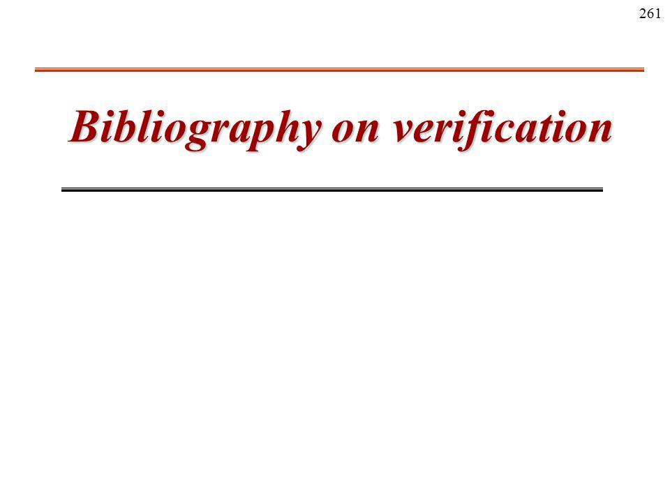 261 Bibliography on verification