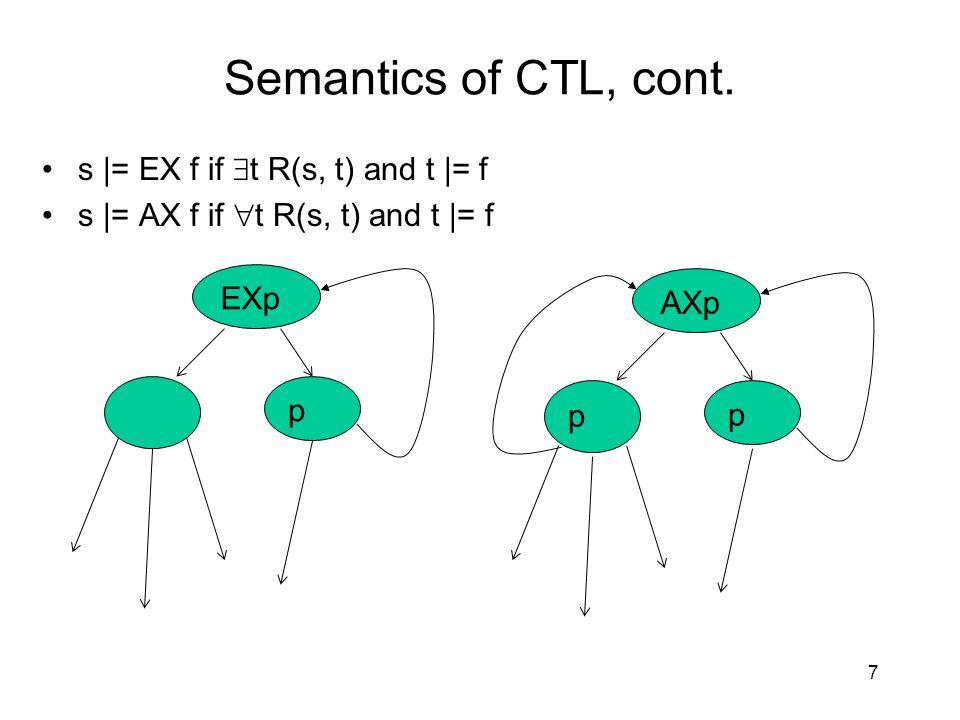 Semantics of CTL, cont.
