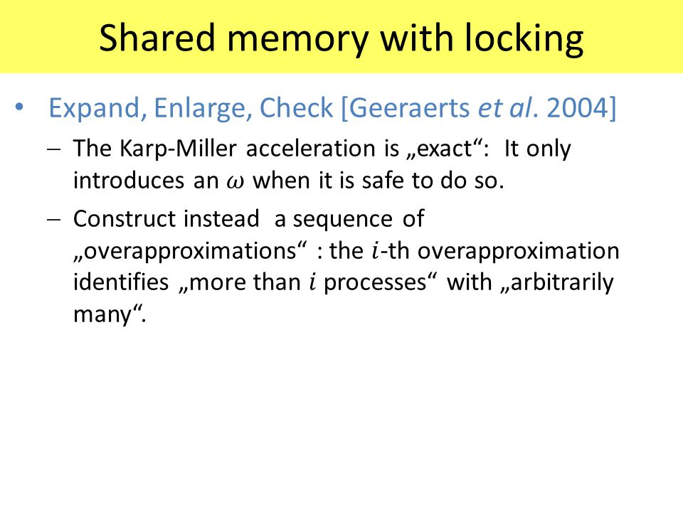 Shared memory with locking