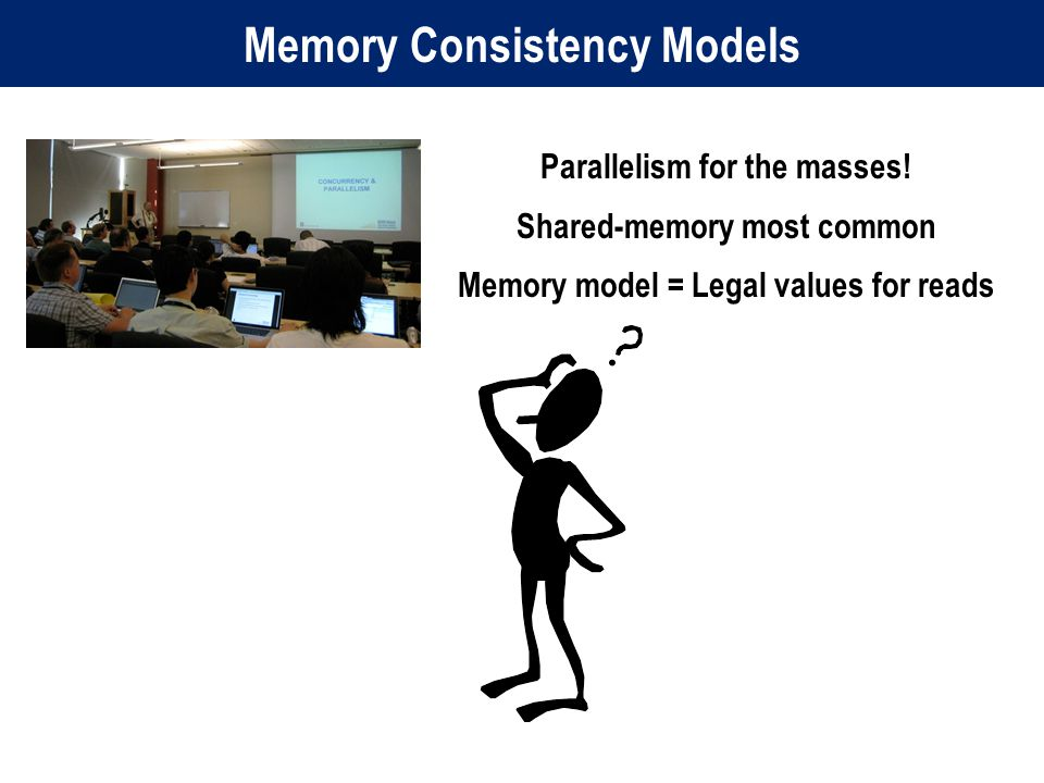 Memory Consistency Models Parallelism for the masses.