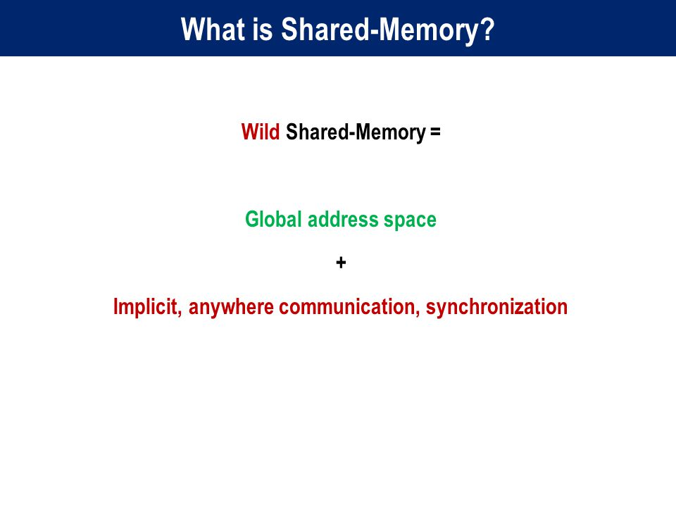 What is Shared-Memory.