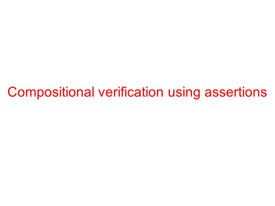Compositional verification using assertions