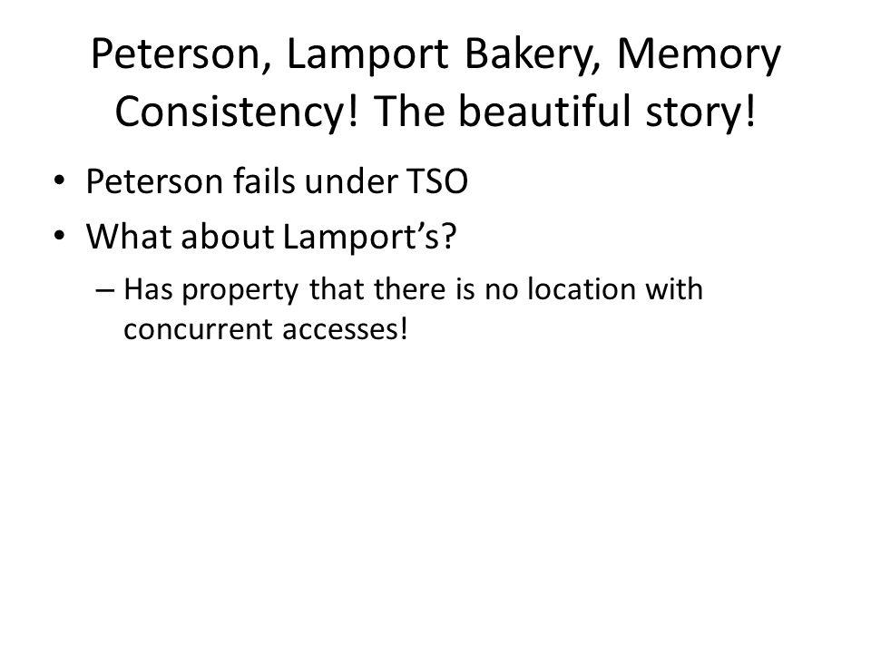 Peterson, Lamport Bakery, Memory Consistency. The beautiful story.