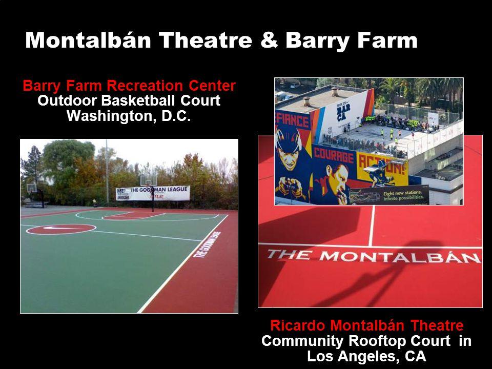 Montalbán Theatre & Barry Farm Barry Farm Recreation Center Outdoor Basketball Court Washington, D.C. Ricardo Montalbán Theatre Community Rooftop Cour