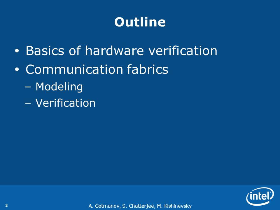A. Gotmanov, S. Chatterjee, M. Kishinevsky 3 Basics of hardware modeling and verification