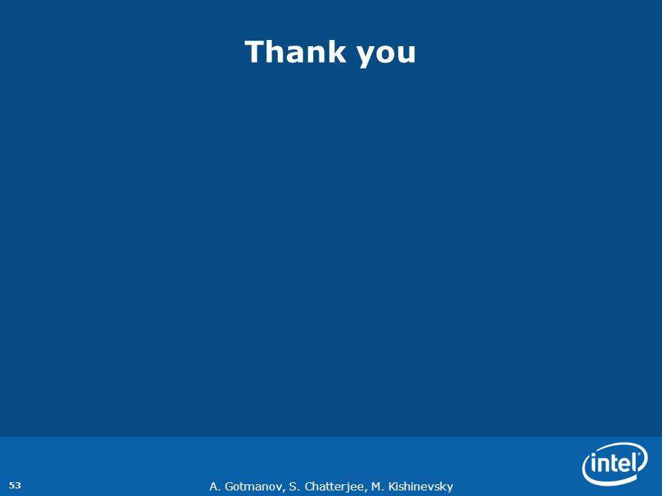 A. Gotmanov, S. Chatterjee, M. Kishinevsky 53 Thank you