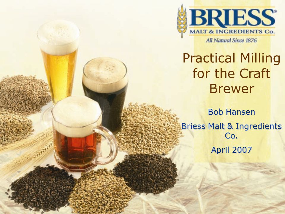 Collection Time Evaluating Brewhouse Performance Quality –Sensory Panel