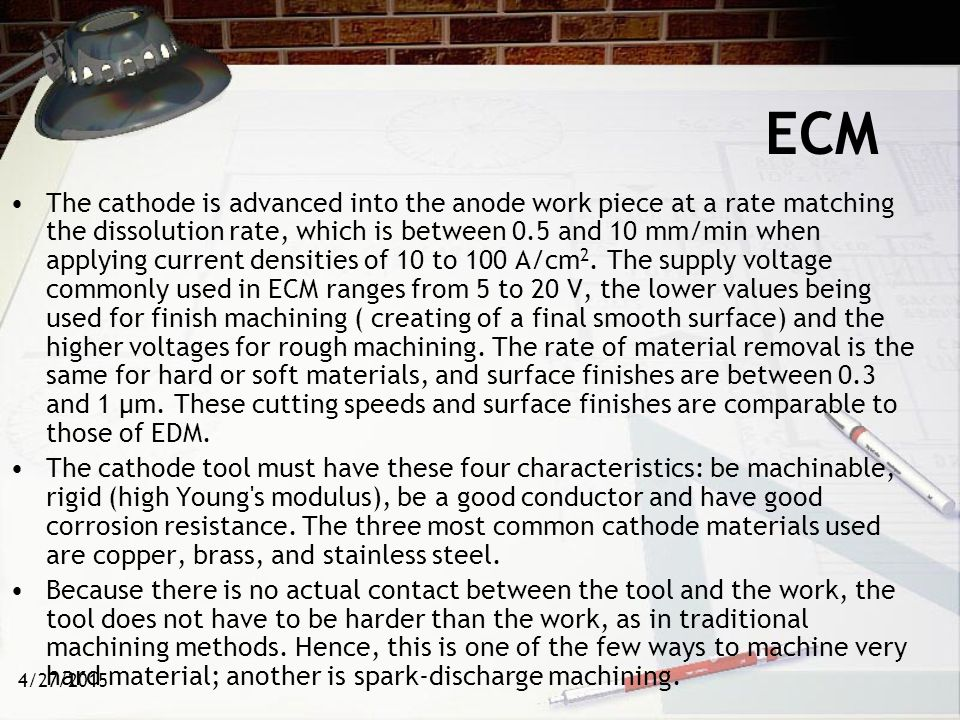 4/27/2015 ECM: Advantages Components are not subject to either thermal or mechanical stress.