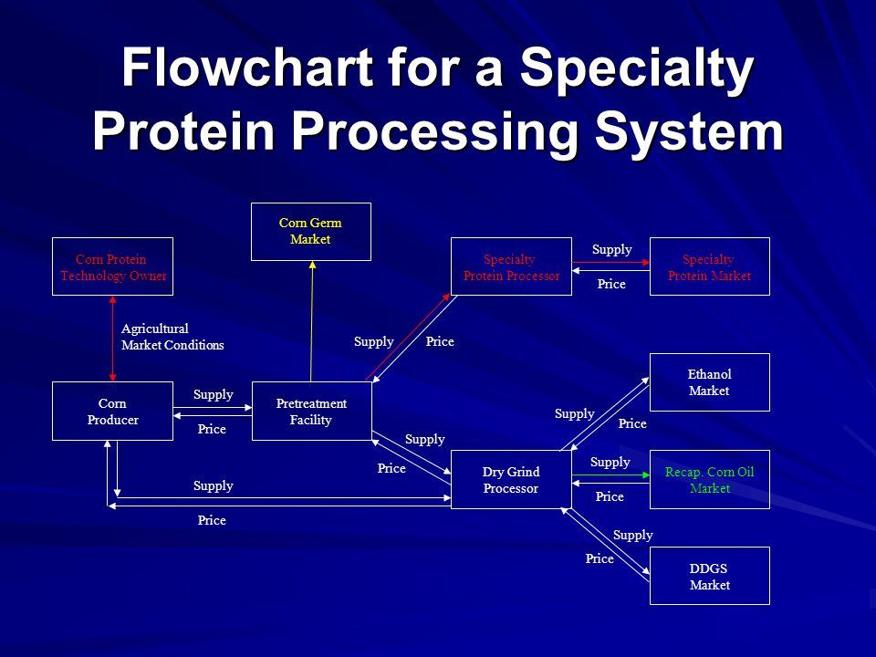Flowchart for a Specialty Protein Processing System DDGS Market Specialty Protein Market Recap.