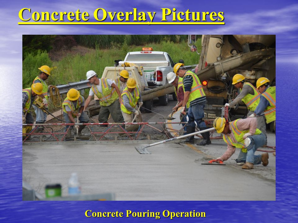Concrete Overlay Pictures Concrete Pouring Operation