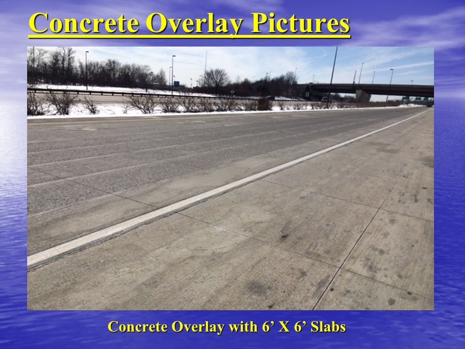 Concrete Overlay Pictures Concrete Overlay with 6' X 6' Slabs