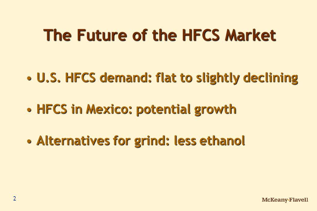 3 19.0 19.9 20.2 19.0 19.4 20.6 20.3 20.120.0 Source: McKeany-Flavell Billion Pounds Dry North American HFCS Demand North American HFCS Demand 19.6 * Estimate 7 0 % o f U.