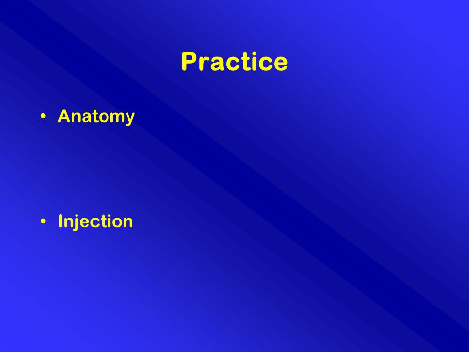 Practice Anatomy Injection