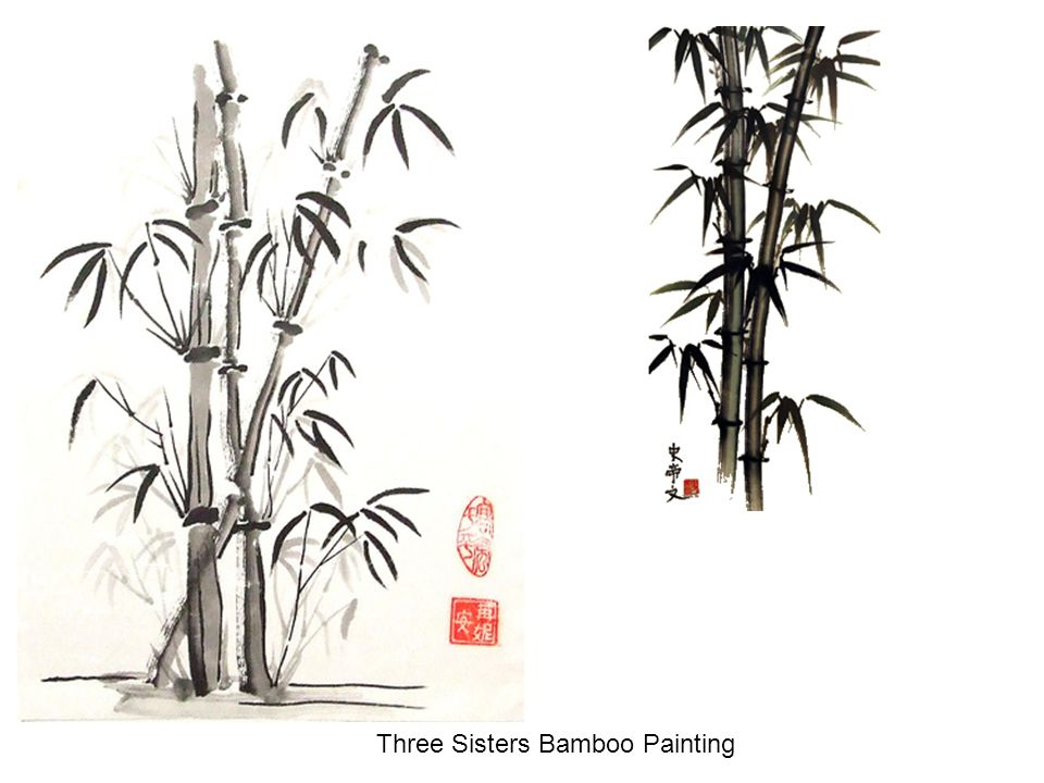 Three Sisters Bamboo Painting