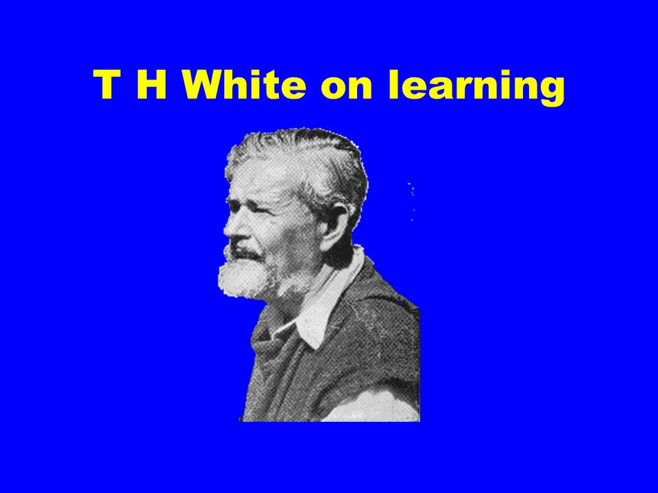 T H White on learning